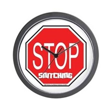 Stop The Snitching Wall Clock