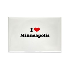 I love Minneapolis Rectangle Magnet (10 pack)