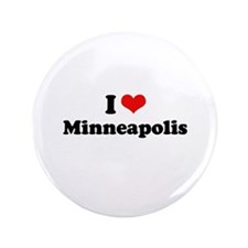 """I love Minneapolis 3.5"""" Button (100 pack)"""