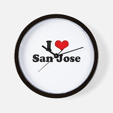 I love San Jose Wall Clock