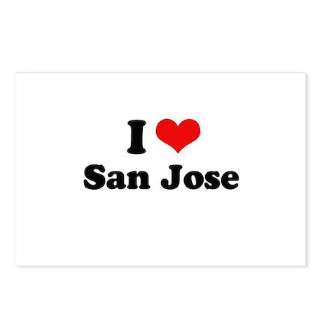 I love San Jose Postcards (Package of 8)