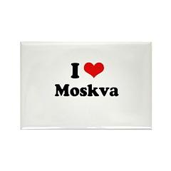 I love Moskva Rectangle Magnet (100 pack)