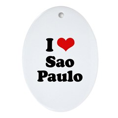 I love Sao Paulo Oval Ornament