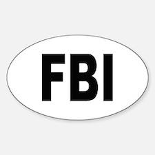 FBI Federal Bureau of Investigation Oval Decal
