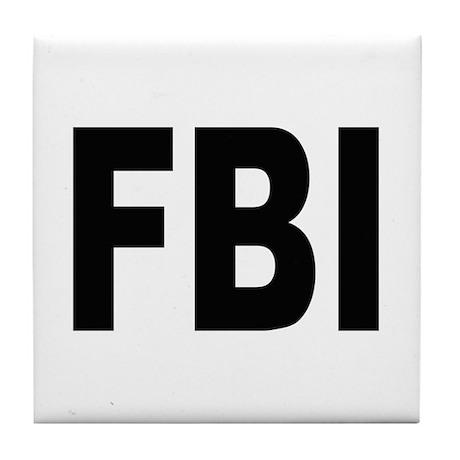 FBI Federal Bureau of Investigation Tile Coaster