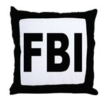 FBI Federal Bureau of Investigation Throw Pillow