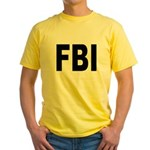 FBI Federal Bureau of Investigation Yellow T-Shirt