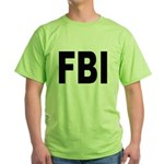 FBI Federal Bureau of Investigation Green T-Shirt