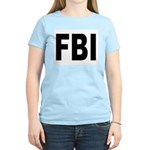 FBI (Front) Women's Pink T-Shirt