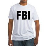 FBI (Front) Fitted T-Shirt