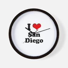 I love San Diego Wall Clock