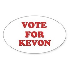 Vote for KEVON Oval Decal