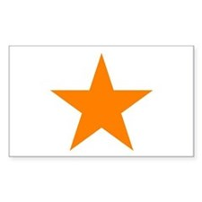 Orange Star Rectangle Decal