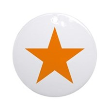 Orange Star Ornament (Round)