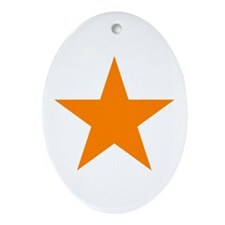 Orange Star Oval Ornament