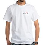 I love St. Louis White T-Shirt