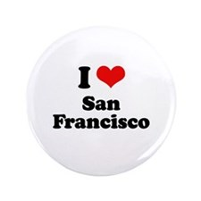 """I love San Francisco 3.5"""" Button (100 pack)"""