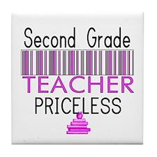 Second Grade Teacher Priceles Tile Coaster