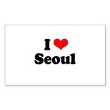 I love Seoul Rectangle Decal
