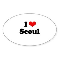I love Seoul Oval Decal