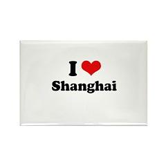 I love Shanghai Rectangle Magnet