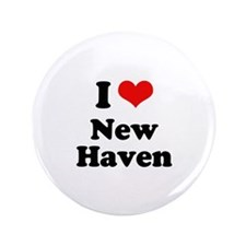 """I love New Haven 3.5"""" Button (100 pack)"""