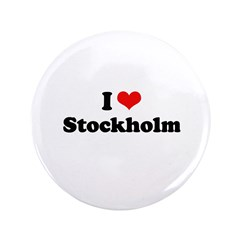 "I love Stockholm 3.5"" Button (100 pack)"