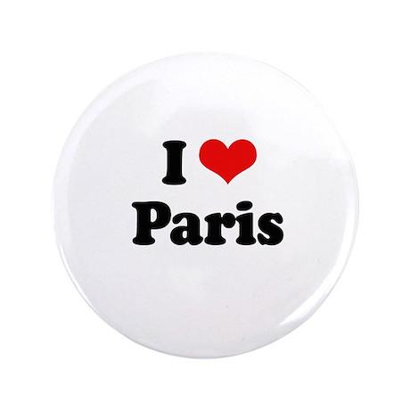 """I love Paris 3.5"""" Button"""