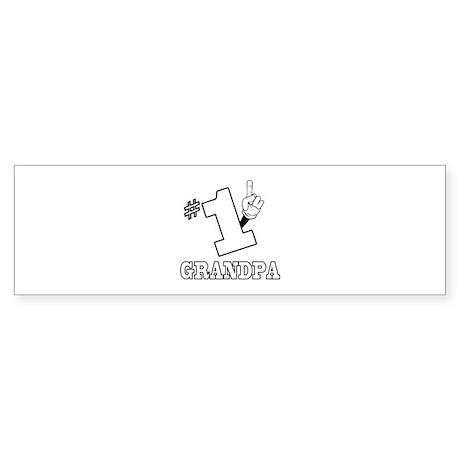 #1 - GRANDPA Bumper Sticker