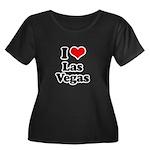 I love Las Vegas Women's Plus Size Scoop Neck Dark