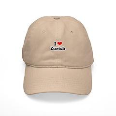 I love Zurich Baseball Cap