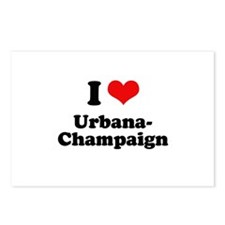I love Urbana-Champaign Postcards (Package of 8)