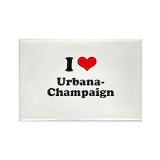 I love Urbana-Champaign Rectangle Magnet