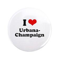 "I love Urbana-Champaign 3.5"" Button (100 pack)"