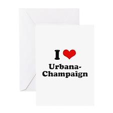 I love Urbana-Champaign Greeting Card