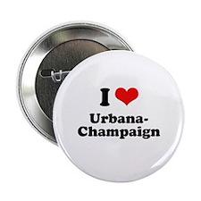 """I love Urbana-Champaign 2.25"""" Button"""