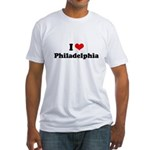 I love Philadelphia Fitted T-Shirt