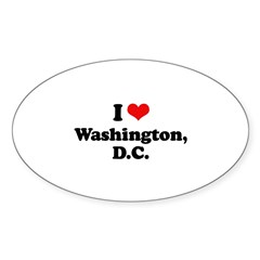 I love Washington, D.C. Oval Decal