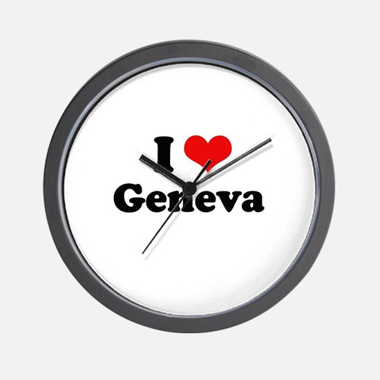 I love Geneva Wall Clock