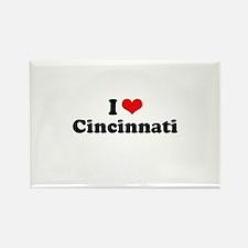 I love Cincinnati Rectangle Magnet (10 pack)