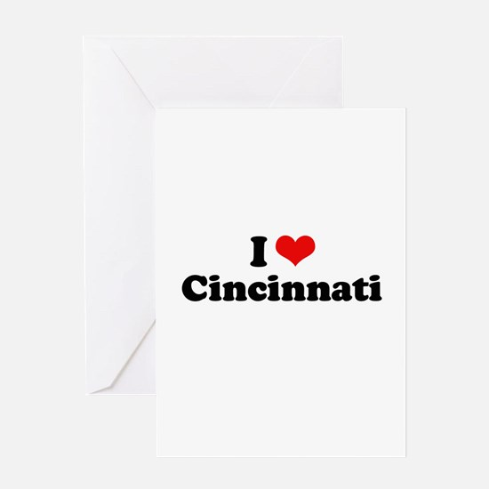 I love Cincinnati Greeting Card