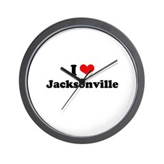 I love Jacksonville Wall Clock