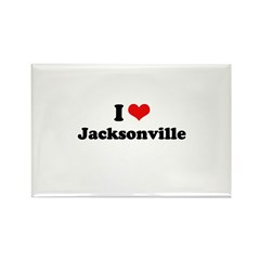 I love Jacksonville Rectangle Magnet (10 pack)
