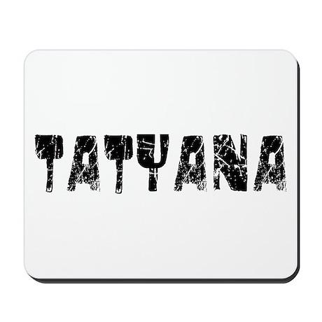 Tatyana Faded (Black) Mousepad