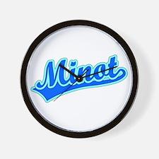 Retro Minot (Blue) Wall Clock