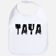 Taya Faded (Black) Bib