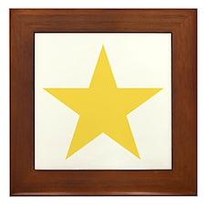 Gold Star Framed Tile