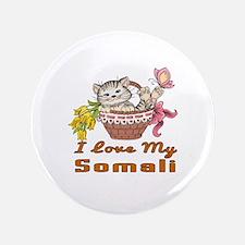 I Love My Somali Designs Button