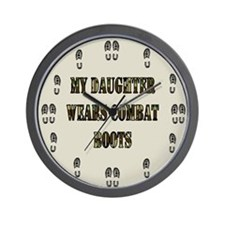 My Daughter Wears Combat bootsWall Clock