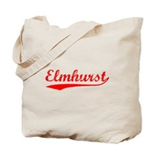 Vintage Elmhurst (Red) Tote Bag